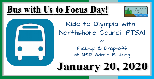 Bus with us to Focus Day - January 20, 2020