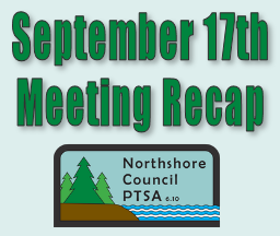 Northshore Council PTSA - September 17th Meeting Recap