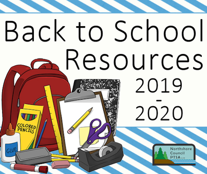 Back to School Resources 2019-2020